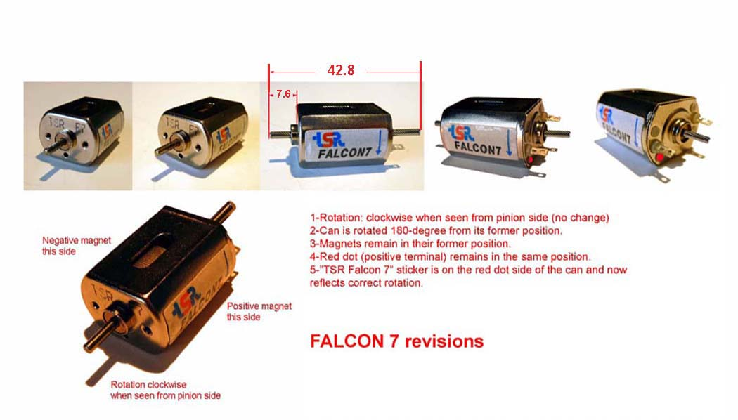 Racing falcon slot motors